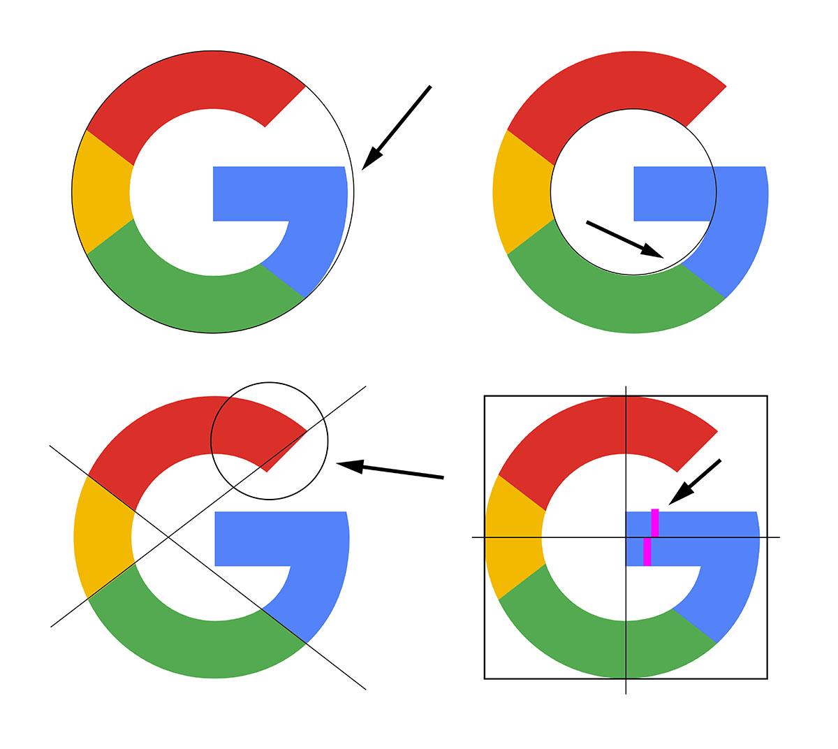 Diseño del logo de Google